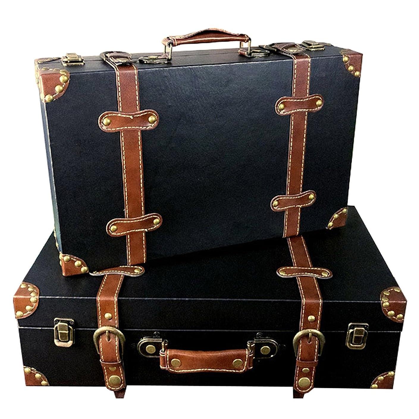 見つけるタブレット怪物[Agree With(アグリーウィズ)] スーツケース アンティーク調 トランクケース モダン レトロ ヴィンテージ 旅行 軽量