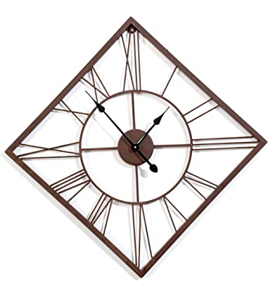 Craftter 20 inch Rustic Finish Kite Shape Live Metal Wall Clock