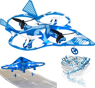 eWonderWorld Drone For Kids & Beginners Easy To Fly Fighter Jet Quadcopter with 360° Flip & Tornado Spin – RC Helicopter Toy Plane