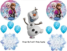 1 X Frozen Olaf #2 Snowman Disney Movie BIRTHDAY PARTY Balloons Decorations Supplies