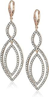 Women's Rose Gold Crystal Orbital Earrings, Size: 0