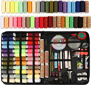 EEEKit Large Sewing Kit, 205 Premium Sewing Supplies, Complete Needle and Thread Kit for Sewing with 41 Color Threads for ...