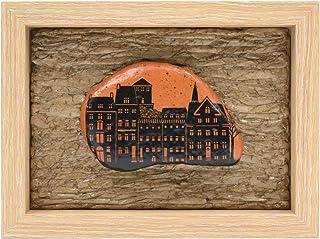 Casas Holandesas, Guijarro Enmarcado, Pintura de Guijarros, Casitas Pintadas