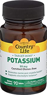 Country Life Potassium Target Minerals, 90 Tablets