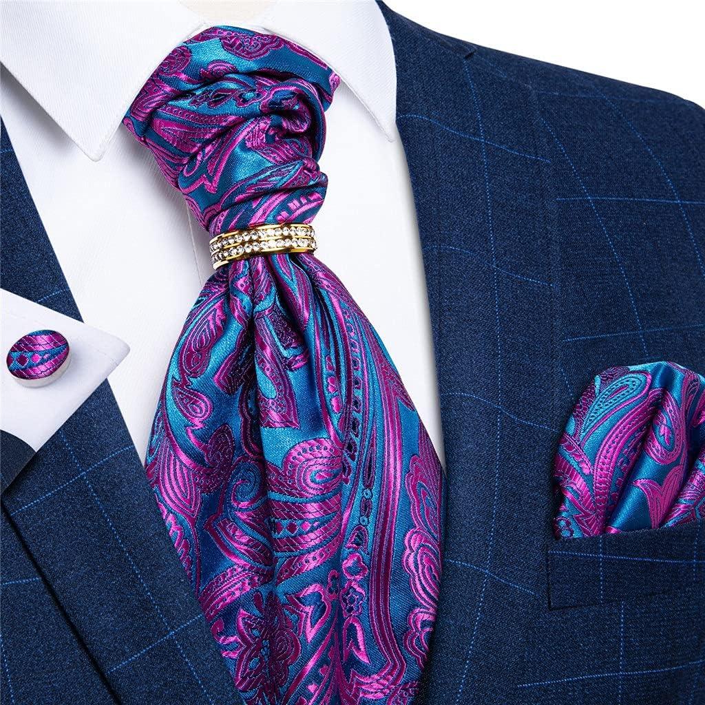 JJZXC Classic Purple Cravat Ties Self British Style Gentleman Polyester Silk Neck Tie Wedding Formal Cravat (Color : Purple, Size : One size)