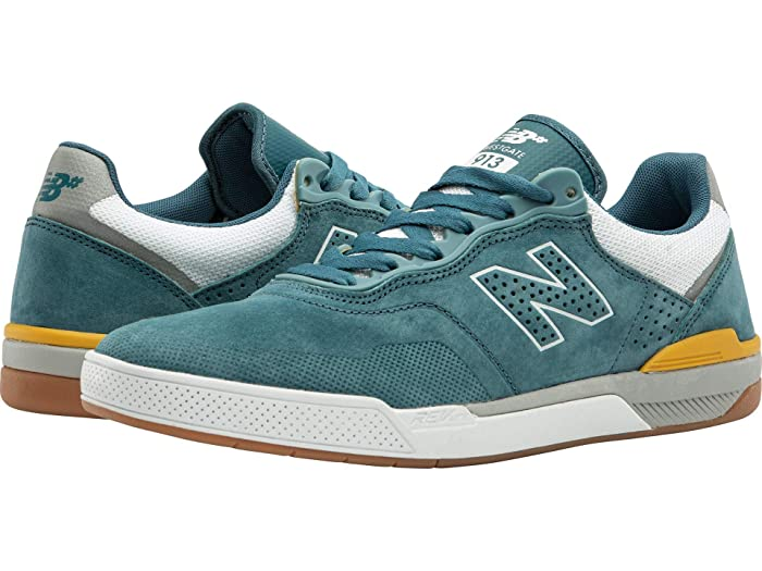 New Balance Numeric 913 (Aqua/Yellow) Skate Shoes