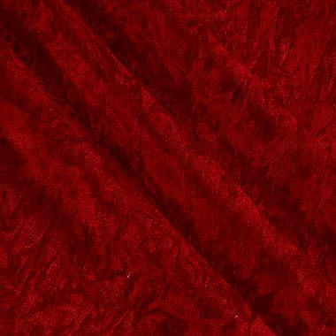 Plastex Alpine Crushed Velvet, Yard, Red
