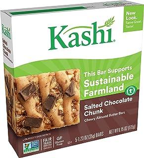 Kashi Chewy Nut Butter Bars - Salted Chocolate Chunk - Vegan, Gluten-Free, 6.15 Oz (Box of 5)