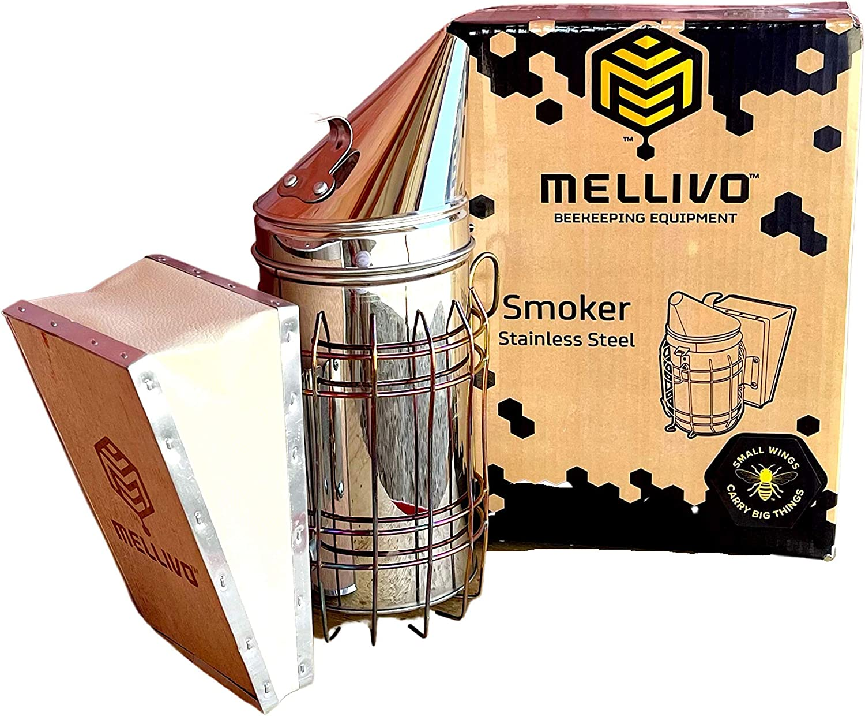 MELLIVO Max 63% OFF Stainless-Steel Smoker Beekeeping and Ranking TOP13 Supplies Equipmen