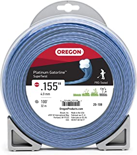 Oregon 20-108 Platinum Gatorline Supertwist Trimmer Line .155-Inch by 100-Foot,Grey/Black