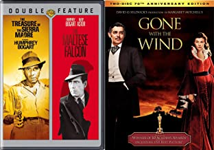 Gone with The Wind 2 Disc Anniversary Edition & Humphrey Bogart Maltese Falcon + The Treasure of The Sierra Madre Triple Film Pack Classics