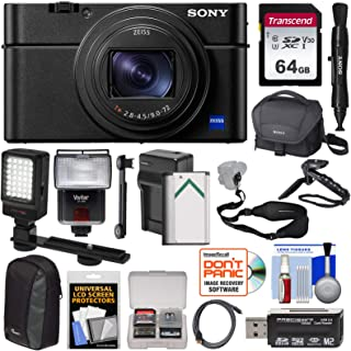 Sony Cyber-Shot DSC-RX100 VI 4K Wi-Fi Digital Camera with 64GB Card + Battery & Charger + Cases + Flash + LED + Grip & Tri...