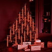 LED meteorenregen regenlichten, 50cm 8 buizen Sneeuwval Fairy Lights Ijspegel Verlichting, Kerst Outdoor Indoor Decoratie ...