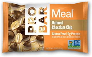 PROBAR - Meal Bar, Oatmeal Chocolate Chip, Non-GMO, Gluten-Free, Certified Organic, Healthy, Plant-Based Whole Food Ingredients, Natural Energy (12 Count) Packaging May Vary