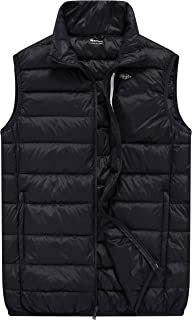 Men's Packable Travel Light Weight Insulated Down Puffer Vest with Pocket