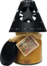 A Cheerful Giver Black Star Tin Candle Shade
