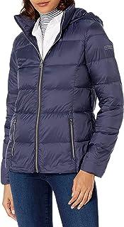 معطف Lucky Brand نسائي قصير خفيف الوزن وقابل للطي مع لحاف مغلّف