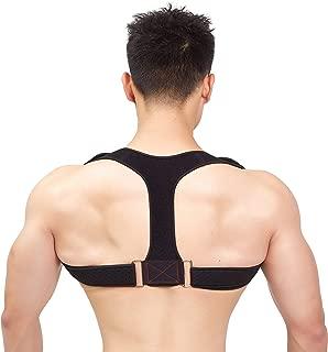 Posture Corrector for Women & Men, Effective Medical Kyphosis Posture Trainer, Adjustable Upper Back Support Brace for Shoulder and Clavicle (L/XL)