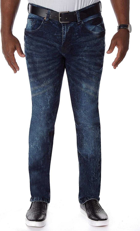 CULTURA AZURE Mens Washed Denim Material Work Denver Mall Manufacturer regenerated product Jeans Stretch Flex