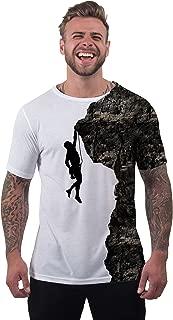 Men's Silhouette Rock Climber Climbing Scrambling Sport T Shirt