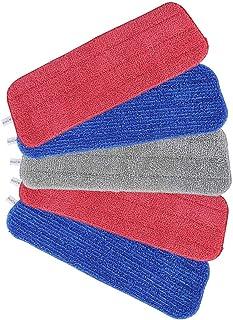 Microfibre Vadrouille, Tencoz 5 Pièce Balai Lave Sol Housse de Nettoyage de Rechange Lavables pour linge sec ou humide 16,...