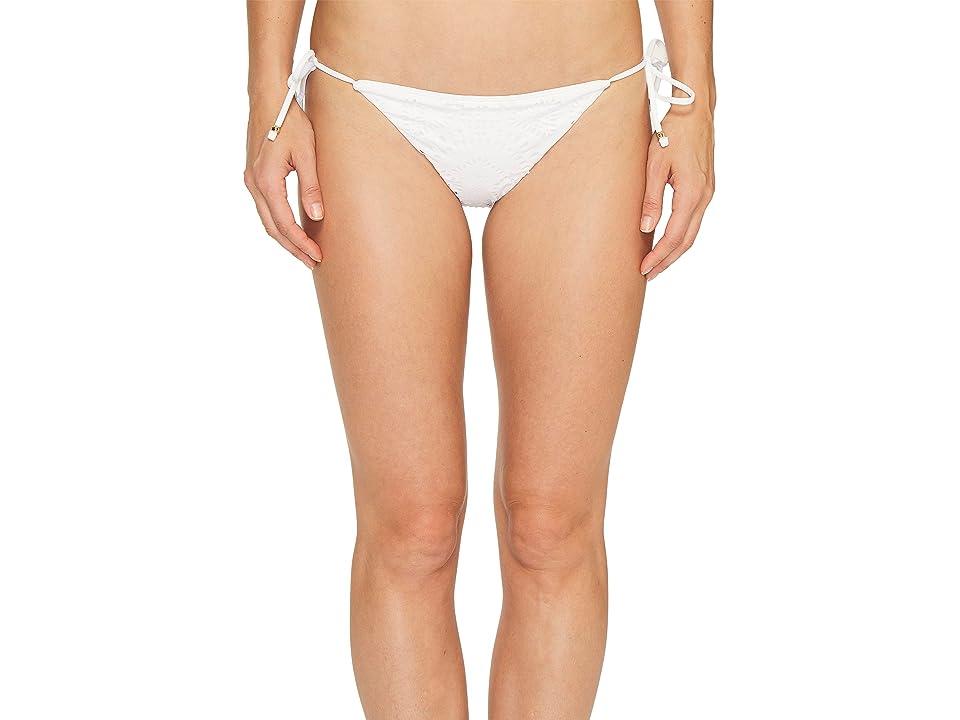 Polo Ralph Lauren Lasercut Medallion Ricky Bikini Bottom (White) Women
