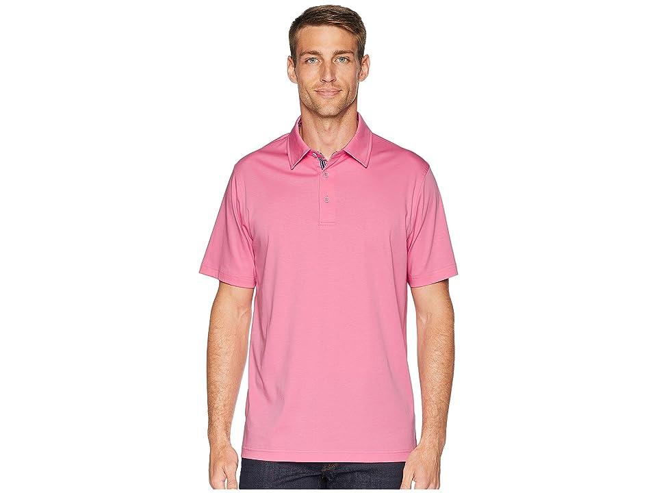 BUGATCHI Mercerized Cotton Polo (Pink) Men