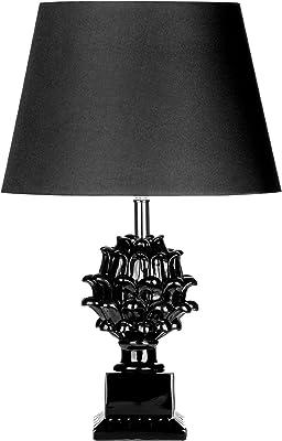 Premier Housewares Milano Table Lamp - Black
