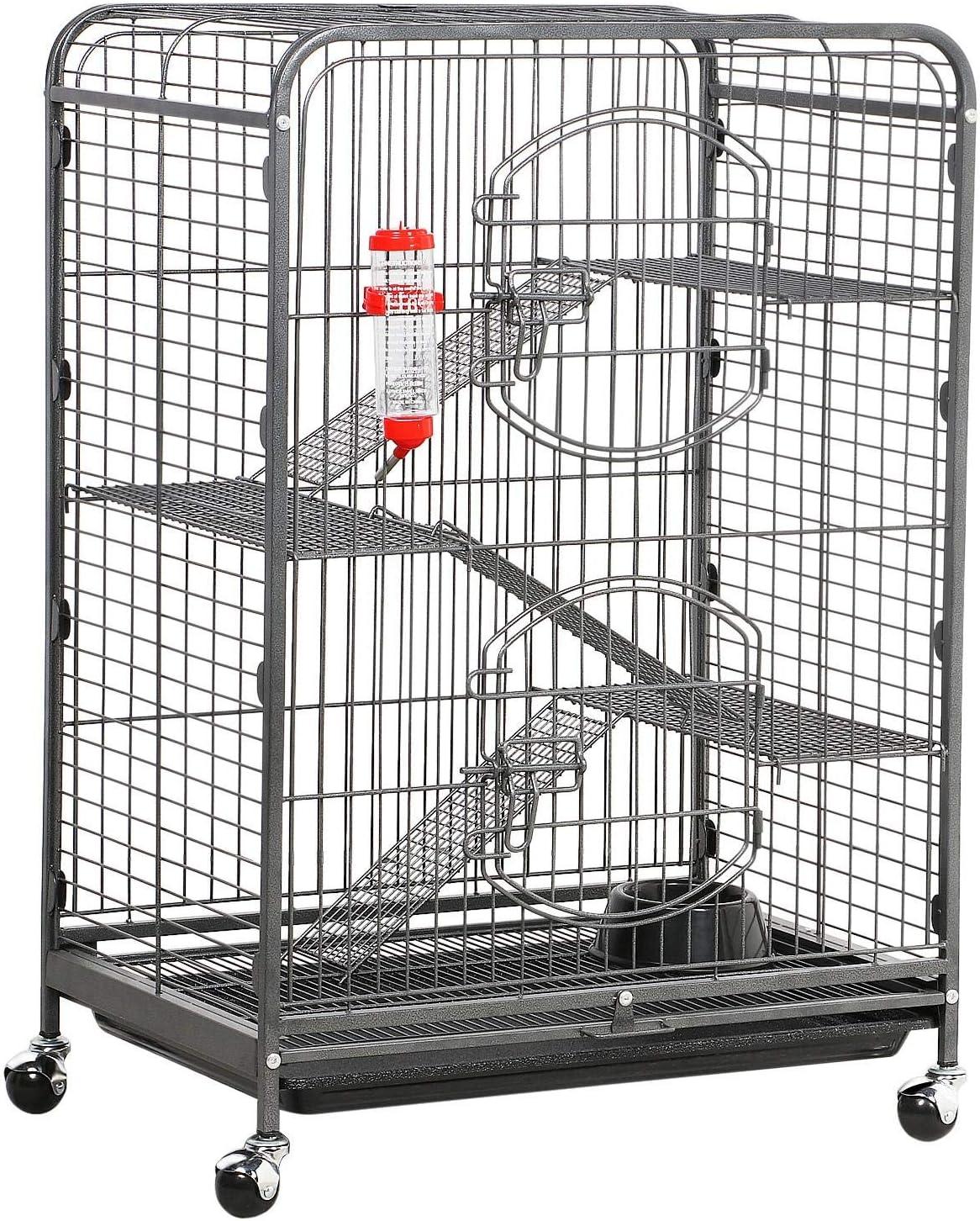 YAHEETECH 37-inch Metal Ferret Chinchilla Guinea Cage Rare Rabbit Pig Max 57% OFF