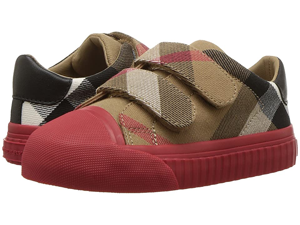 Burberry Kids Belside Check Trainer (Toddler) (Classic/Parade Red) Kid