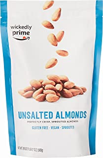 Wickedly Prime Sprouted Almonds, Unsalted, 18 Ounce