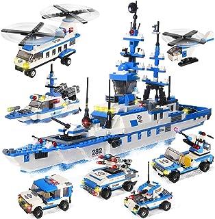 2318 Pieces City Police Building Kit, Military Battleship...