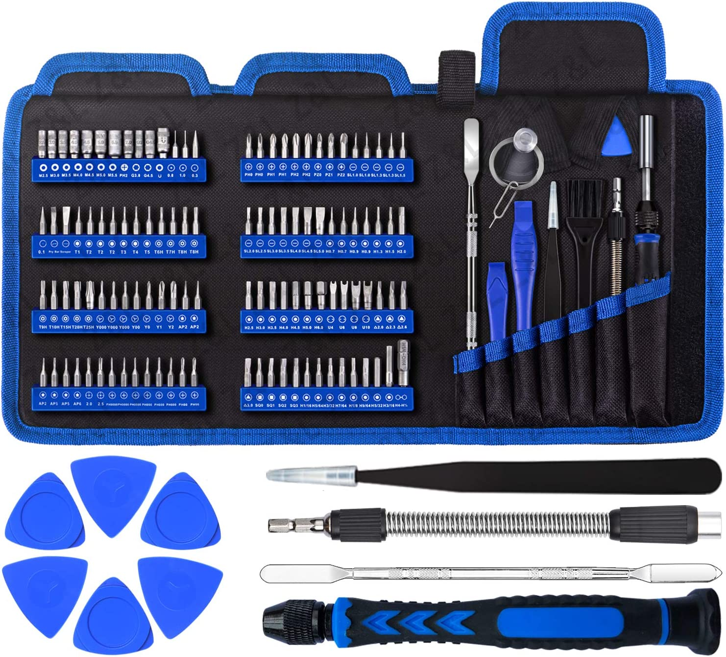 Precision Computer Screwdriver Set, with 111 Small Magnetic Bit, Professional Electronics Repair Tool Kit, Suitable for Cell Phone, iPhone, Laptop, MacBook, Tablet, Xbox, Game Console Repair