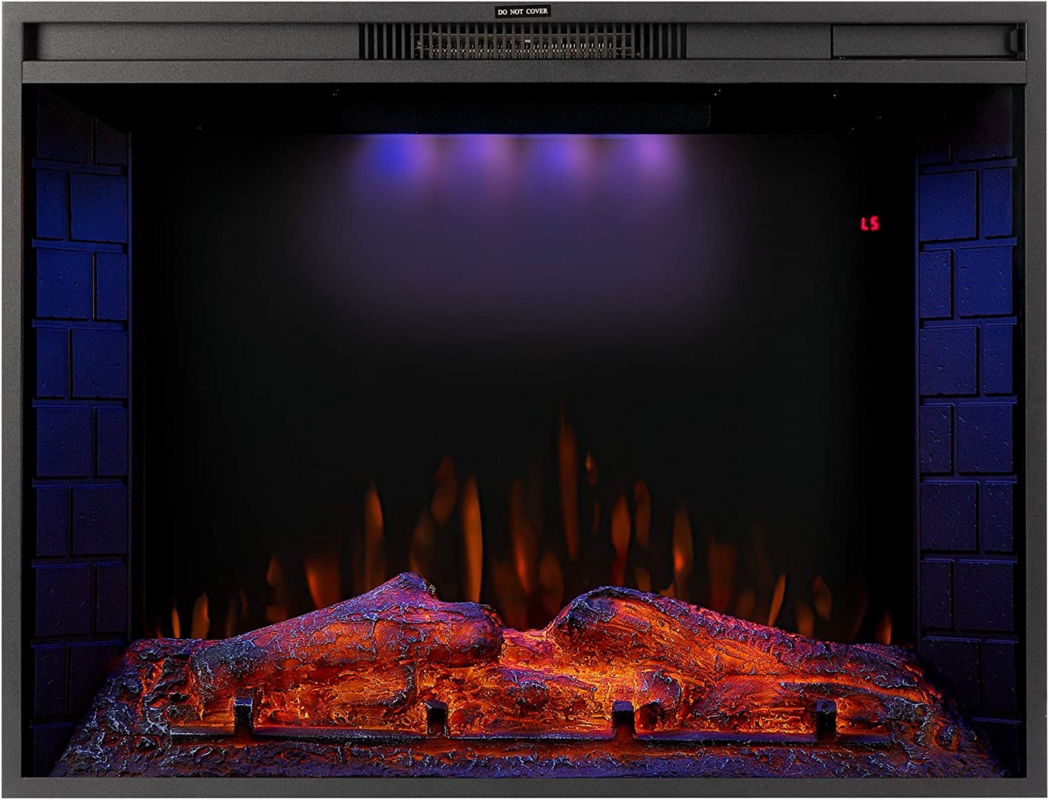 33 inch Electric Fireplace LED with Recessed Heater 3 Chicago Mall At the price