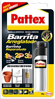 Pattex Barrita arreglatodo, masilla adhesiva, sella, pega, gris, 48gr