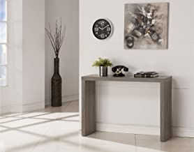 Weathered Grey Finish Modern Console Sofa Entry Table