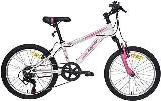 Umit 20 Pulgadas Bicicleta XR-200 Partir de 6 años, con Cambio Shimano y Suspension Delantera, Unisex niños, Blanca/Rosa
