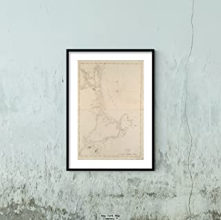 1781 Map|Essex|New Hampshire|Rockingham Coast of New Hampshire and Massachusetts from Great Bo|Historic Antique Vintage Reprint|Ready to Frame