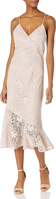 Sugar Lips Women's Treasure Me Lace Midi Dress