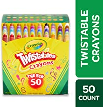 Crayola Twistables Crayons Coloring Set, Kids Indoor Activities At Home, Age 3+ – 50 Count