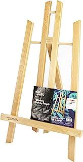comprar comparacion Mont Marte Caballete Mesa pequeña de madera de Haya – Medio – Caballete compacto – Ideal para la presentación de Lienzos d...