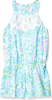 Lilly Pulitzer Girls' Big Mini Pearl Romper Multi What a Lovely Place