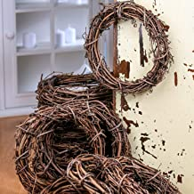 Factory Direct Craft Group of 12 Natural Dried Grapevine Wreaths 8