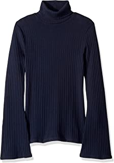 J.Crew Mercantile Women's Ribbed Flare Sleeve Turtleneck Sweater