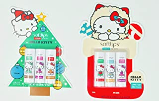 New Hello Kitty® Softlips Natural Lip Balms Christmas Gift Edition Perfect for Filling Christmas Stockings (Xmas Special Duo)