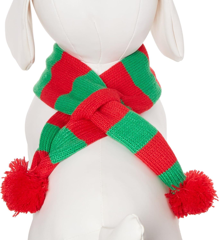 Alemon Stripe Pet Xmas Costume Accessories Knit Christmas Scarf for Pet