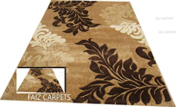 Faiz Carpets Modern Design Wool Blend Carpet for Living Room with 1 inch Thickness 5 X 7 Feet (150x210 cm) Multi