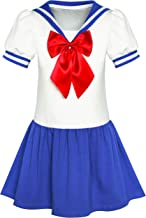 YiZYiF 3 PCS Costume Sailor-Moon da Donna Chocker//Canotta Sexy//Slip Set Babydoll Uniforme Scolastica Sailor Venus Cosplay Lingerie Hot Aperto Chemise da Notte Erotico