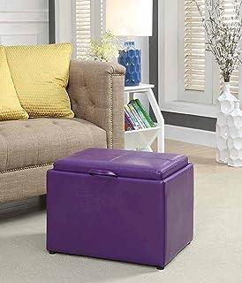 Pleasing Purple Storage Ottomans Amazon Com Creativecarmelina Interior Chair Design Creativecarmelinacom