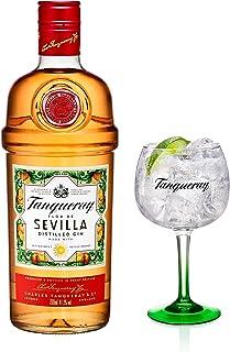 Tanqueray Flor de Sevilla, Destillierter Gin, Alkohol, Alkoholgetränk, Flasche, 41.3%, 700 ml, 753383, inklusive Gratis Glas